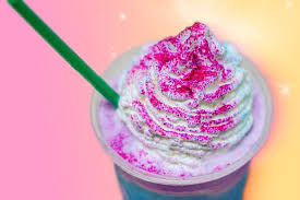 The Rumors Are True Starbucks Has Officially Launched Unicorn Frappuccino A Swirly Pink Blue Purple Concoction Covered With Whipped Cream And Glitter