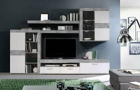 Anbauwand Wohnzimmer Mã Bel Forte Wohnwand Anbauwand Wohnzimmer Möbel Tv Neu