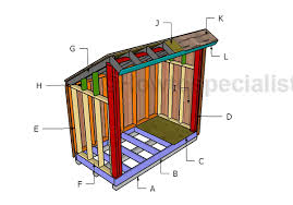 4x8 firewood storage shed free plans howtospecialist how to