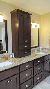 Double Sink Vanity With Dressing Table by Mill Creek Wa Remodeling Contractor