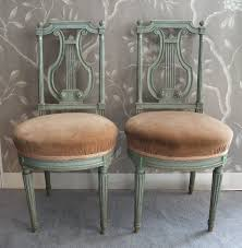 Lyre Back Chairs Antique by A Pair Of Louis Xvi French Lyre Back Chairs