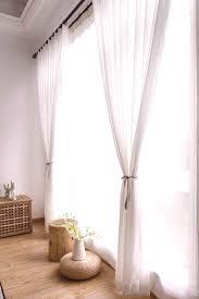moderne gardinen wei aus chiffon f r wohnzimmer transparent
