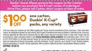 Dunkin Donuts Pumpkin K Cups by Save 1 00 Off Dunkin Donuts K Cups Coupon Karma