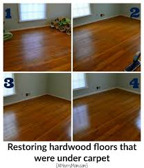 Orange Glo Hardwood Floor Refinisher Home Depot by Restoring Hardwood Floors That Were Hidden Under Carpet Without
