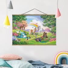leinwandbild kinderzimmer animal club international zauberwald mit einhorn querformat 2 3