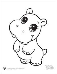 Learning Friends Hippo Baby Animal Coloring Printable From LeapFrog The Prepare Kids For School In A Playful Way When Children