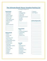 The Ultimate Beach House Vacation Packing List