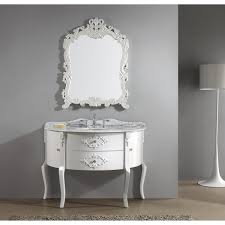 awesome vintage bathroom vanity set with curved cabinet doors and