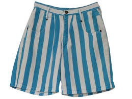1980s shorts late 80s not guilty womens white and teal vertical