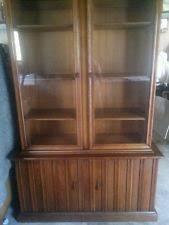 Henredon Breakfront China Cabinet by Walnut Antique China Cabinets 1950 Now Ebay