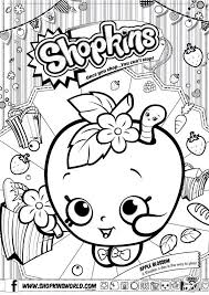Shopkins Apple Blossom Coloring Pages Printable And Book To Print For Free Find More Online Kids Adults Of