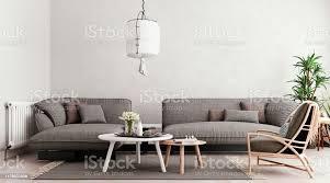 hellgrau mockupwand große graue modulare sofa mit tischset und stuhl wohnzimmer skandinavischen stil 3drender 3dillustration stockfoto und mehr bilder