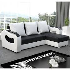 Hagalund Sofa Bed Ebay by Ebay Sofa Beds For Sale Modern Design L Shaped Unique Armrest From High Quality Foam And Leather Finished In Black And White Colour Monochrome Style Jpg