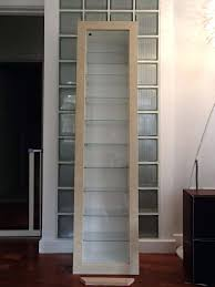 glass display cabinets lights ikea detolf cabinet price in beech