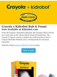 Crayola X Kidrobot Bub Foomi DIY Vinyl Figures Are Here