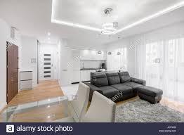 100 Elegant Apartment White Elegant Apartment With Kitchen And Living Room Stock