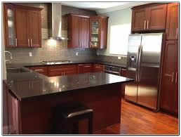 Kitchen Paint Colors With Medium Cherry Cabinets by Kitchen Backsplash Brown Kitchen Cabinets Cherry Kitchen