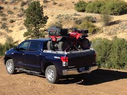 Honda ATV On ATV Carrier On Toyota Tundra   A Honda ATV Sits…   Flickr Sema 2015 Atc Truck Covers Rocks The New Sxt Tonneau Cover A Heavy Duty Bed On Toyota Tundra Rugged B Flickr 2016 Hilux Soft Roll Up Load Tacoma How To Remove Trifold Enterprise Truxedo Truxport Vinyl Crewmax 55 Ft Toyota Tundra Alluring Peragon Retractable 1999 Toyota Tacoma Magnum Gear Bakflip Fibermax Parts And Accsories Amazoncom Rollbak Butterfly On Polished Diamon Honda Atv Carrier Sits
