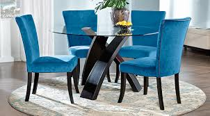 Del Mar Ebony 5 Pc Round Dining Set
