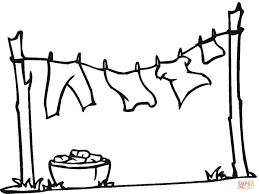 Click The Drying Clothes Coloring Pages To View Printable
