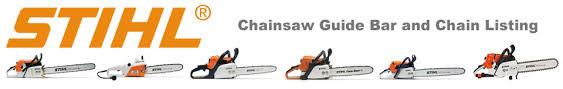 STIHL Chainsaw Chain Bar Quick Reference Chart