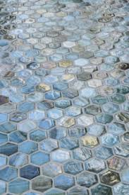 new agate hexagon tiles by lunada bay tile are reimagined classics