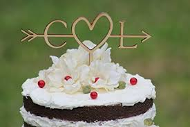Rustic Wedding Cake Topper Wood Initial