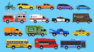 Learning Street Vehicles For Children - Learn Cars, Trucks, Fire ...