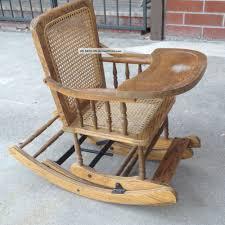 Antique Ladies Rocking Chair Sewing Rocker Walnut Orig Cane ...
