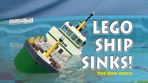 lego cargo ship sinks youtube