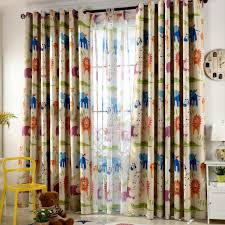 Colorful Animal Print Polyester Custom Insulated Kids Curtains