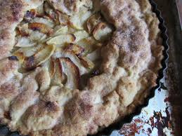 Rustic Apple Tart With White Chocolate Brandy Custard