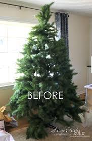 DIY Flocked Tree Wreaths
