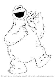 Learn How to Draw Cookie Monster from Sesame Street Sesame Street Step by Step Drawing Tutorials