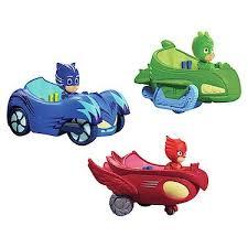 PJ Masks 3 Mobile Vehicles Bundle CAT CAR OWL GLIDER And GEKKO MOBILE