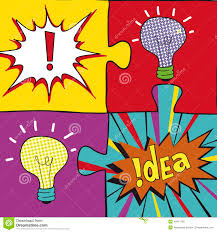 Idea Puzzles In Pop Art Style Creative Light Bulbs Concept Background Design For Poster Flayer Cover Brochure Business