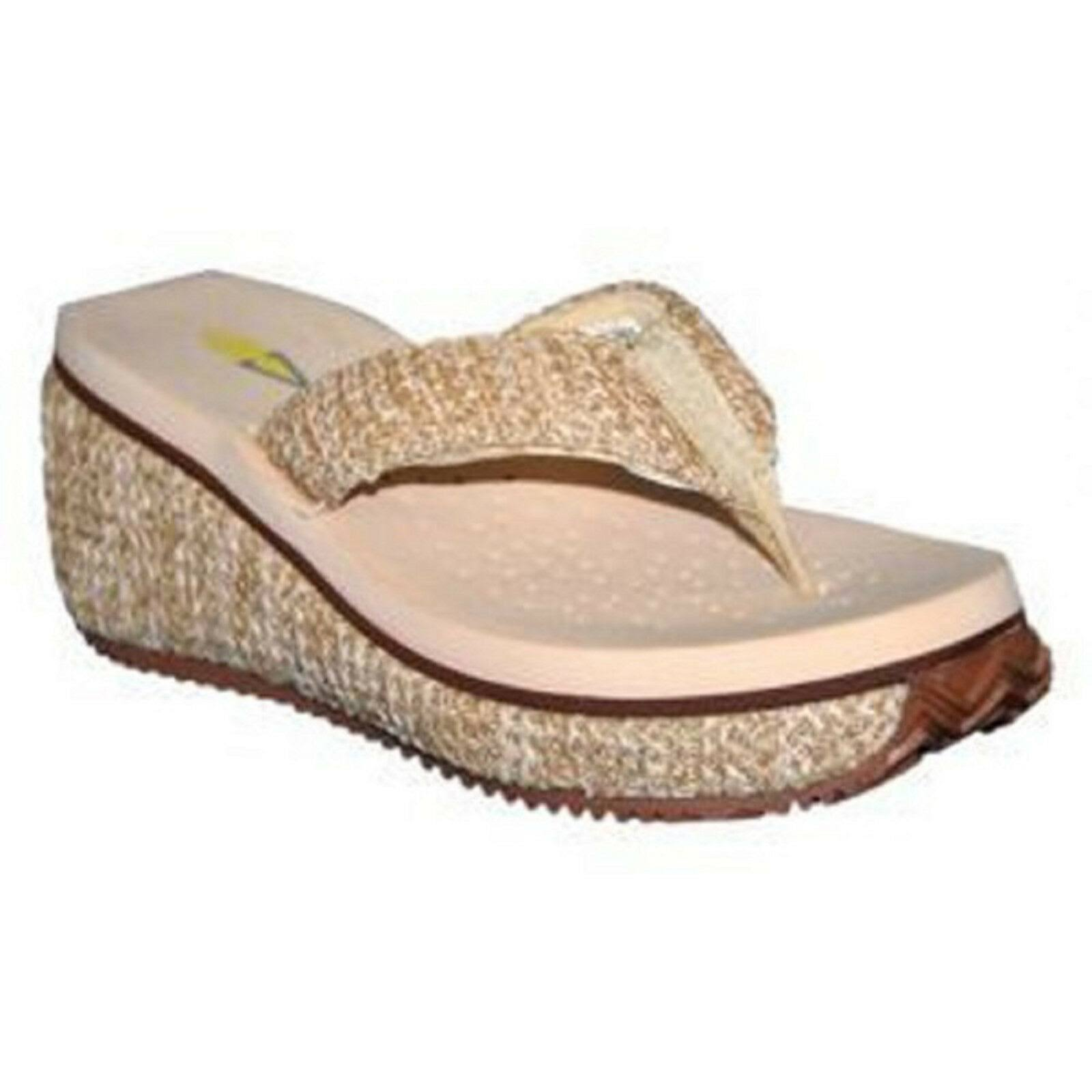 Volatile Women's Island Wedge Sandals - Natural, 9 USW