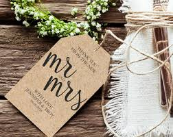 Thank You Wedding Tags Rustic Tag Gift Favor