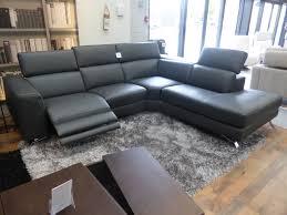 natuzzi editions luca power reclining chaise corner sofa