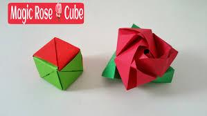 magic rose cube diy modular origami tutorial by paper folds