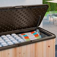 Suncast 50 Gallon Deck Boxstorage Bench by Suncast Hybrid Wood And Resin Deck Box 120 Gallon Deck Boxes