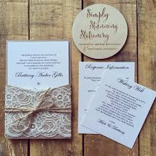 Wedding Invitation Rustic Kraft Pocket Invitations