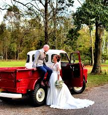 For This Memorable Romantic Rustic Theme, The Unique Red Pick Up ...