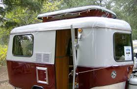 A Vintage Restored Camping Trailer