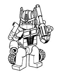 Transformers Oprimus Prime With Bazooka Coloring Page Kids Play