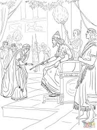 Queen Esther Coloring Pages For Kids Adults Biblical Story Of Holidays