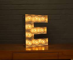 light up marquee bulb letters e by goodwin & goodwin