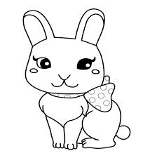 Pin Drawn Bunny Coloring Page 2