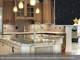 Black Galaxy Granite Countertop Design Idea