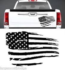 Image Is Loading RUSTIC AMERICAN FLAG VINYL GRAPHIC DECAL TAILGATE HOOD